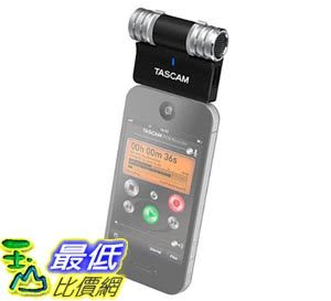 [103美國直購] TASCAM iM2 Channel Portable Digital Recorder 電容式 立體聲麥克風 (黑色) iPhone iPod iPad 專用 $1247