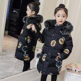 童裝女童棉衣中長款韓版兒童棉襖大童加厚冬季羽絨服棉服 概念3C旗艦店