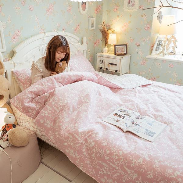 春分 D3雙人床包雙人兩用被四件組 100%復古純棉 台灣製造 棉床本舖