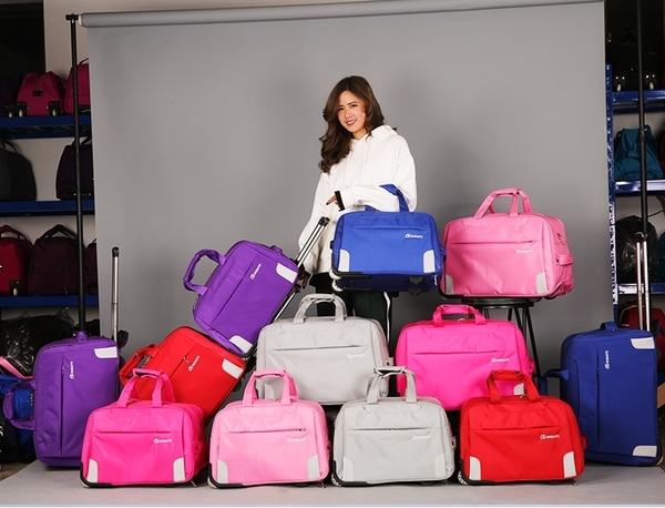 拉桿包旅行包女手提行李包旅行袋可折疊防水輪子待產包大容量潮款  汪喵百貨