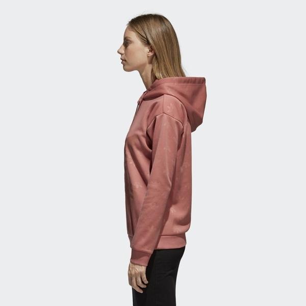 愛迪達 adidas Originals 三葉草 CD6931 女長袖帽T 粉紅 乾燥玫瑰粉 angelababy許路兒