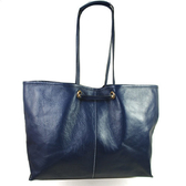 茱麗葉精品【全新現貨】YSL 284650 Double bag 小羊皮漆皮兩面肩背包.深藍/白