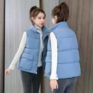 羽絨背心馬夾女2020年春季外套女背心寬鬆坎肩外穿輕薄韓版短款羽絨棉馬甲 小山好物