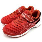 《7+1童鞋》中童 ASICS 亞瑟士 LAZERBEAM RD-MG 透氣網布 運動鞋 慢跑鞋 5179 紅色