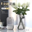 歐式玻璃花瓶大號透明水培簡約創意擺件客廳鮮花玫瑰插花瓶干花器 LJ5196【極致男人】
