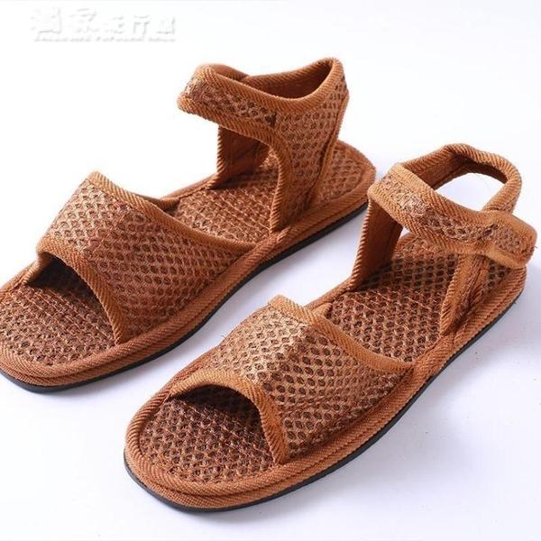 編織鞋棕涼鞋純手工男女防滑除臭棕絲涼鞋天然吸汗透氣山棕涼鞋棕編草鞋 快速出貨