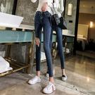 牛仔褲 直筒褲 九分褲 小腳褲S-2XL611#破洞牛仔褲女九分褲2020新款高腰鉛筆小腳褲T524依品國際