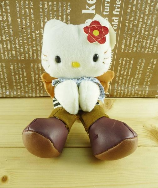 【震撼精品百貨】Hello Kitty 凱蒂貓~造型絨毛-牛仔