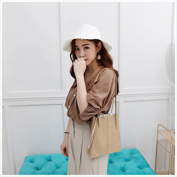 包中包-時髦感縮口肩背包中包-共4色-A15152371-天藍小舖