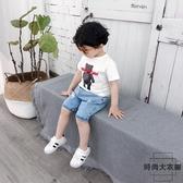 男童短袖T恤上衣兒童半袖夏季打底衫【時尚大衣櫥】