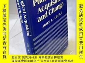 二手書博民逛書店Phonological罕見Acquisition And ChangeY255562 John L. Loc