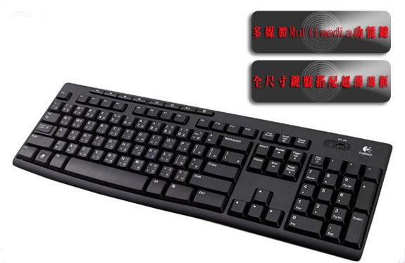 【限時3期零利率】全新 羅技 K270 無線鍵盤 /八個多媒體功能鍵 / 2.4 GHz無線連線