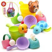 兒童洗澡玩具戲水車男孩女孩小黃鴨 全館免運