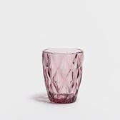 WAGA 歐式 復古幾何250ml玻璃水杯