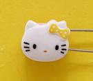 【震撼精品百貨】Hello Kitty 凱蒂貓~KITTY掀開式安全別針-大頭造型-黃#76634