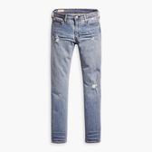 Levis 男款 511 低腰修身窄管牛仔褲 / 微磨損破壞 / 彈性布料