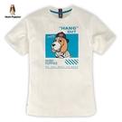 Hush Puppies T恤 男裝趣味棒球狗印花短袖T恤