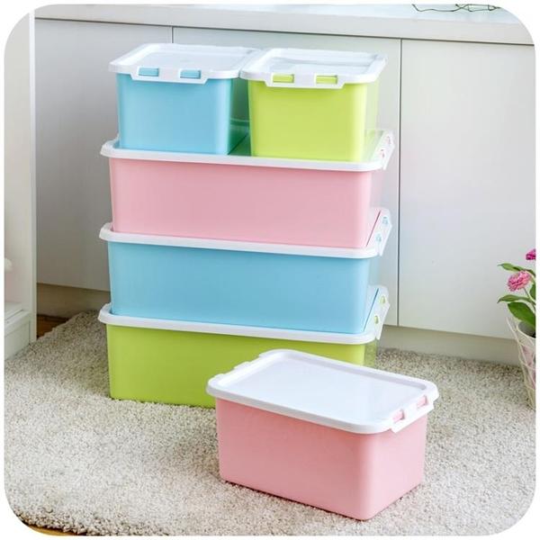 [超豐國際]塑料收納箱床底有蓋收納盒衣服箱子置物箱密封儲物箱整理箱