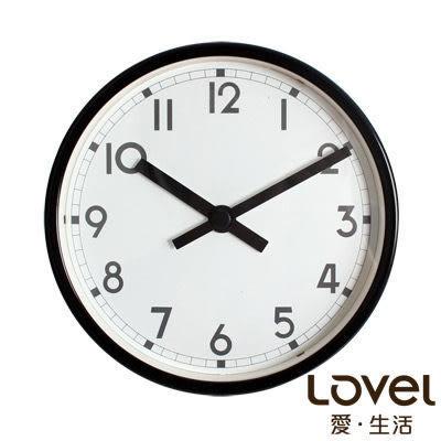 里和Riho LOVEL 16cm品格紳士鋁框靜音壁掛時鐘(736-BK) 台灣製造,高品質機芯