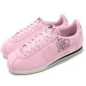 Nike 阿甘鞋 Classic Cortez 粉紅 白 塗鴉設計 復古慢跑鞋 皮革 男鞋 女鞋【PUMP306】 BV8165-600