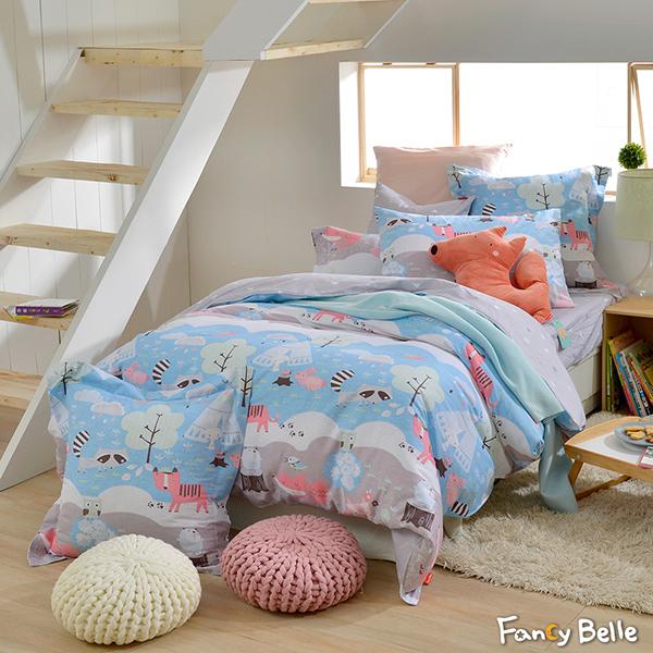 義大利Fancy Belle《森林野餐趣》加大純棉防蹣抗菌吸濕排汗兩用被床包組