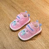 女寶寶學步鞋0-1-2歲3春秋舒適男寶寶單鞋叫叫鞋防滑軟底嬰兒鞋子 新知優品