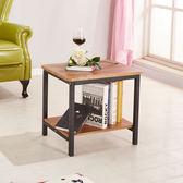 客廳角幾小茶幾簡約邊幾方形迷你茶幾沙發邊桌床頭雙層茶桌電話桌WY【萬聖節促銷】