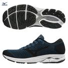 MIZUNO WAVEKNIT R2 男鞋 慢跑 路跑 耐磨 緩震 透氣 深丈青【運動世界】J1GC182925