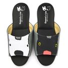 童鞋城堡-麗莎與卡斯伯 成人款 黑白不對稱室內拖鞋GL2816-黑
