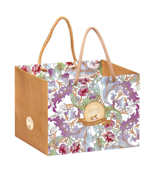 22CM 歐式庭院風 紙袋 禮盒袋 乳酪盒袋 購物袋 外賣袋 手提袋 蛋糕袋 包裝袋 時尚袋 環保袋