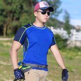 全館83折戶外速干衣男 短袖運動跑步快干衣T恤 彈力透氣排汗登山徒步夏季
