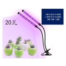 可定時LED雙頭植物生長燈-20瓦