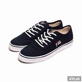 FILA 女 帆布鞋(低統) 深藍 刺繡 草寫 LOGO-5C917U311