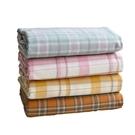 清新大格子嬰兒A類寬幅全棉純棉水洗棉床單被套定做面料布料布匹 【快速出貨】
