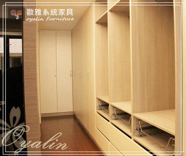 【歐雅 系統家具 】櫥櫃更衣室結合書櫃