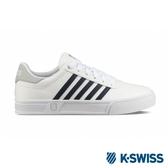 【K-SWISS】Court Lite Stripes休閒運動鞋-男-白/藍(06149-132)