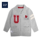 Gap男女嬰兒童趣貼布針織棒球領上衣52...