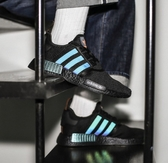 IMPACT Adidas NMD R1 Black Logo 黑 橘 漸層 3M反光 輕量 男鞋 FV8025