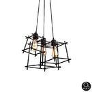 吊燈★Loft 現代工業風 立方造型骨架吊燈 3燈✦燈具燈飾專業首選✦歐曼尼✦