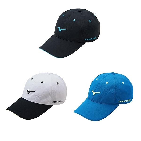 MIZUNO 運動路跑帽 鴨舌帽 遮陽帽 輕量運動帽 寶特瓶再生布 吸汗速乾 夜間反光 J2TW1001 21SS