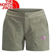 【The North Face 女 FLASHDRY短褲 灰棕】CL0K254/休閒短褲/短褲★滿額送