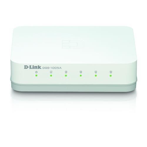 D-Link 友訊 DGS-1005A 5埠 桌上型網路交換器