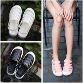 包頭涼鞋女防滑軟底護士白色洞洞鞋鏤空透氣韓版少女學生拖鞋【蘇迪蔓】