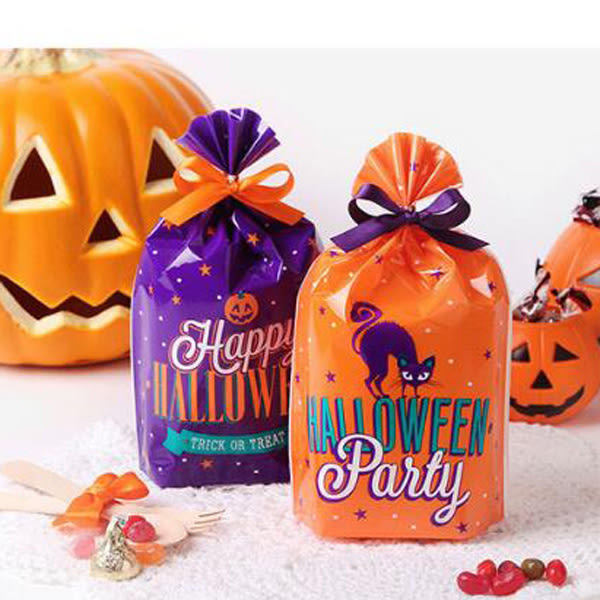 【BlueCat】萬聖節紫貓和南瓜星星餅乾袋 食品袋