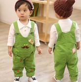 雙十二狂歡購   18秋裝冬裝寶寶0-1-2-3歲男童女童牛仔背帶褲嬰幼兒童長褲加厚 小巨蛋之家