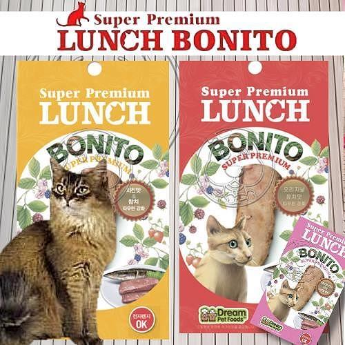 【培菓平價寵物網】LUNCH鮪魚條貓零食添加牛磺酸《原味|柴魚|雞肉》20g*10包