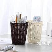 筆筒 多功能簡約桌面筆筒創意時尚辦公用品學生文具筆桶桌上化妝收納盒 3色