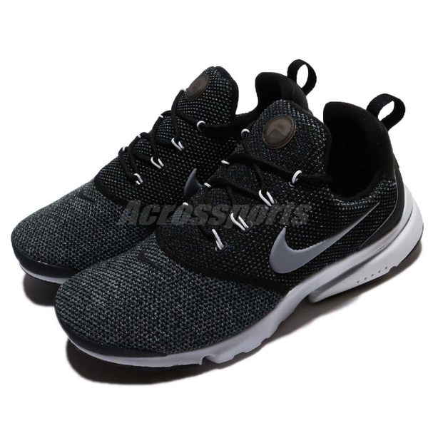 Nike 休閒慢跑鞋 Wmns Presto Fly SE 黑 灰 低筒 魚骨鞋 進化版本 襪套式 運動鞋 女鞋【PUMP306】 910570-006