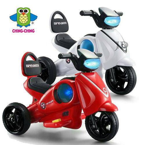 親親 外星人電動摩托車 RT-9805(紅色、白色)【德芳保健藥妝】兒童學步車 助步車電動車