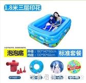 兒童充氣游泳池加厚家用成人超大號水上樂園嬰兒小孩家庭充氣水池 NMS漾美眉韓衣